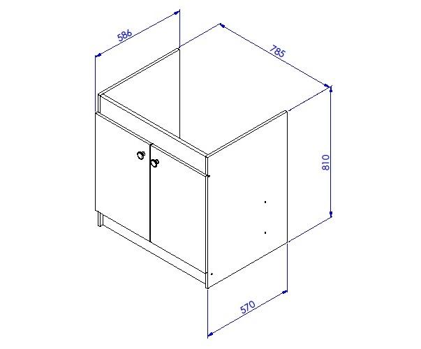 informations techniques du produit meuble sous vier liberty en 2 ou 3 portes