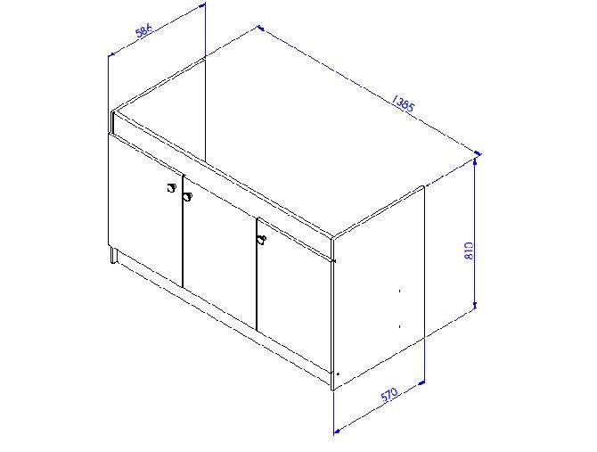meuble sous vier liberty en 2 ou 3 portes. Black Bedroom Furniture Sets. Home Design Ideas