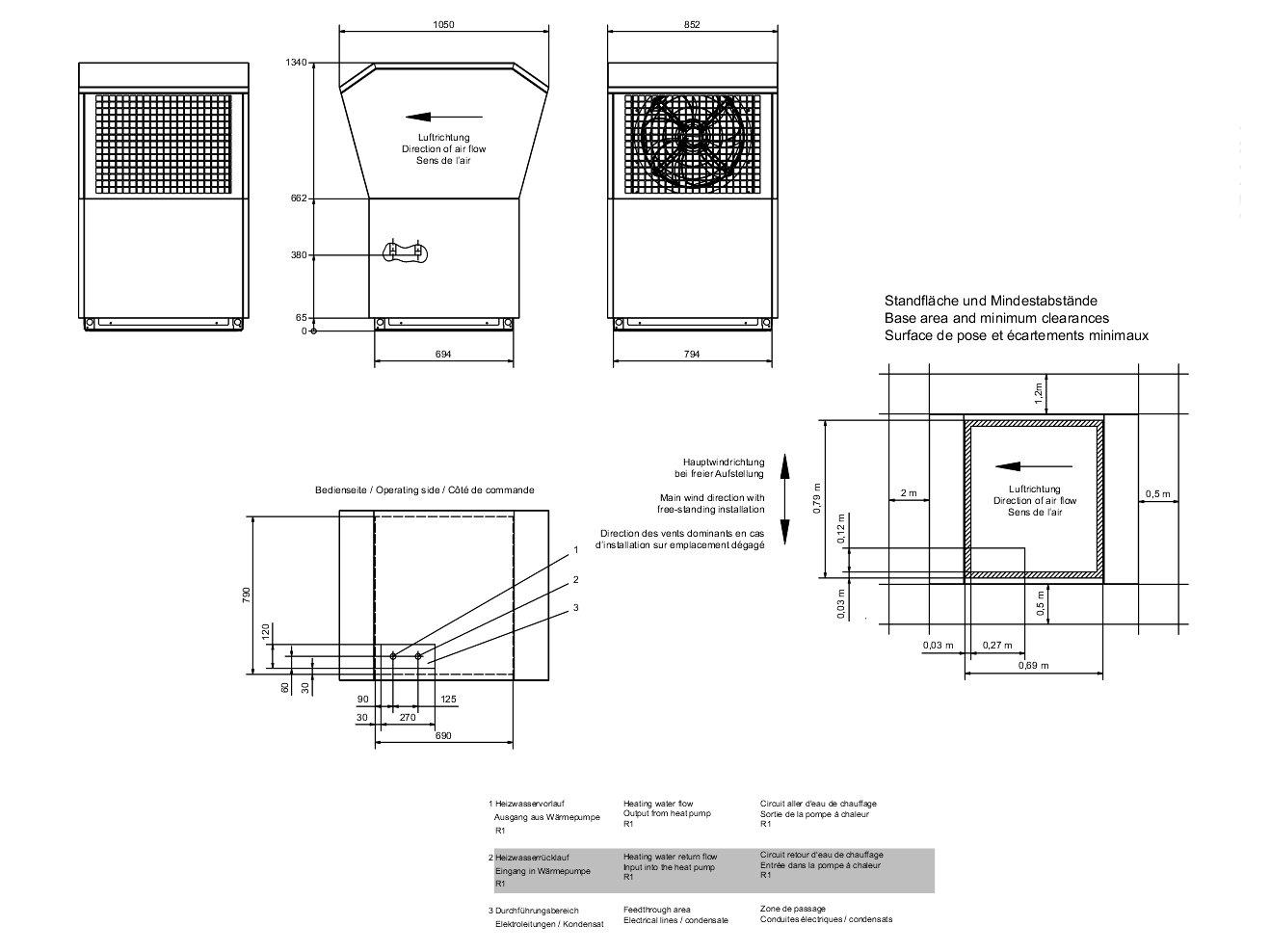 pompe chaleur air eau basse temp rature 58 c installation proche du mur. Black Bedroom Furniture Sets. Home Design Ideas
