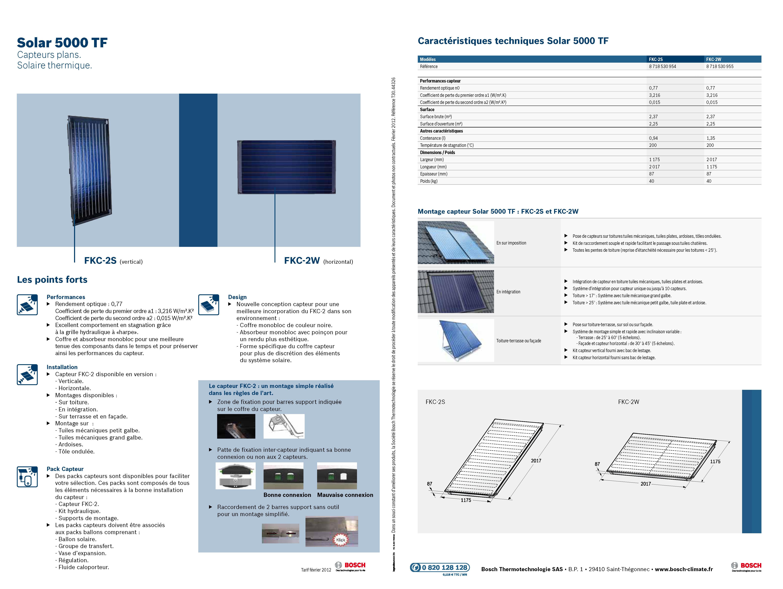 Pack capteurs verticaux solar 5000 tf pose sur toiture - Etancheite cheminee toiture fiche technique ...