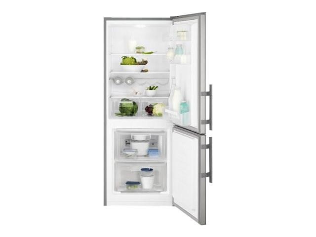 refrigerateur combine 225l inox. Black Bedroom Furniture Sets. Home Design Ideas