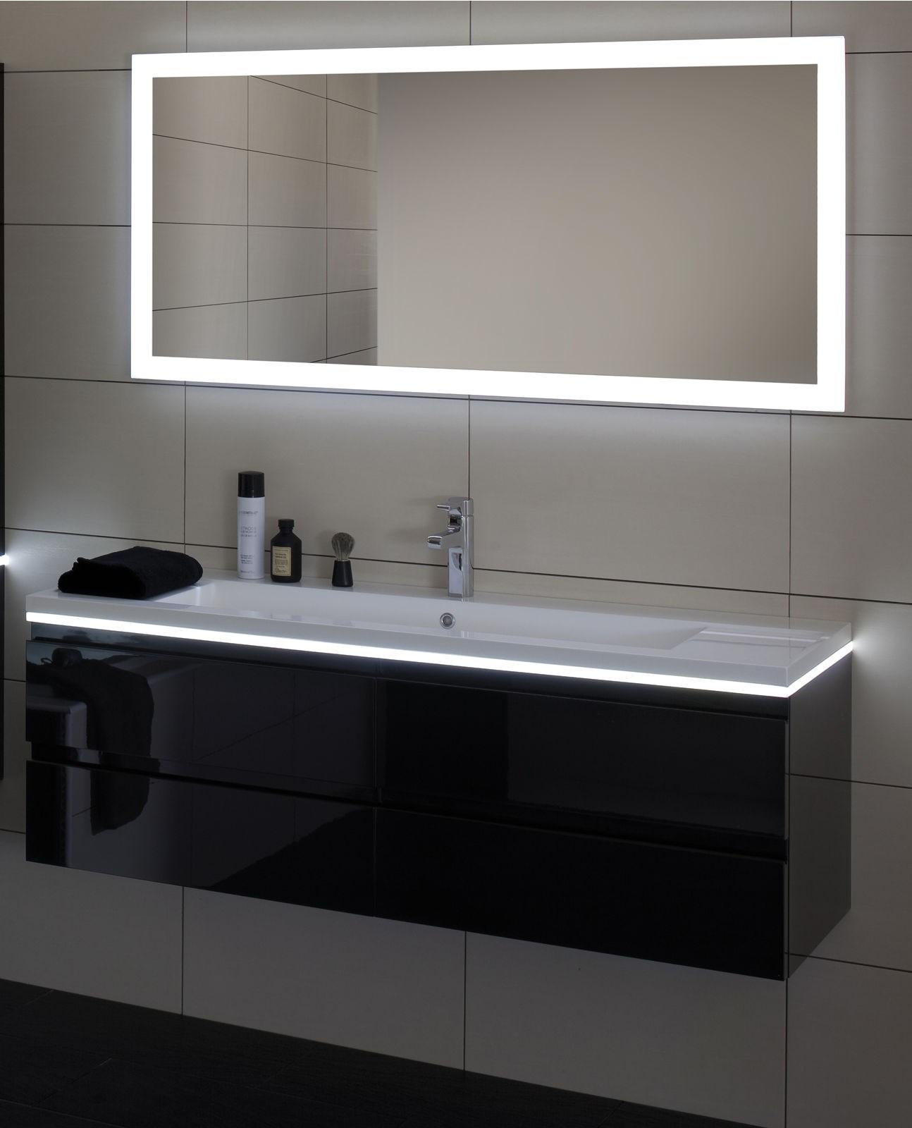 Miroir Reflet Luz Avec Clairage Led Et Interrupteur Infrarouge Et