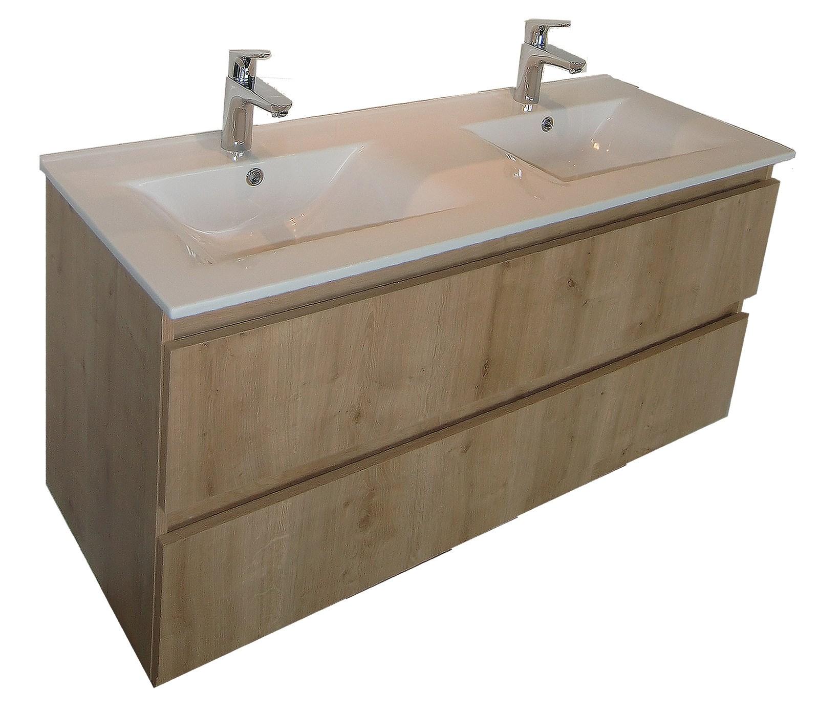 Meuble sous vasque rivage 2 tiroirs de 120 cm for Meuble sous vasque 120 cm